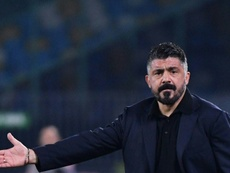Gattuso's Napoli suffered a setback after losing to Lecce. AFP
