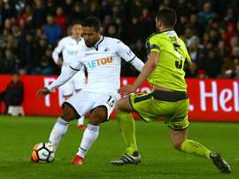 Swansea go top of Championship with late win over Leeds. AFP