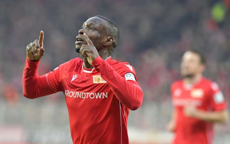 Ujah scored the first in Union Berlin's 2-0 victory over leaders Gladbach. AFP