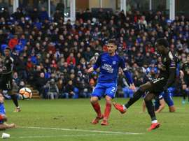 Diabate's brace helped Leicester to victory over Peterborough. AFP