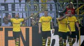 Alcácer también marcó ante el Leverkusen. AFP