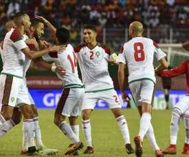 A Seleção Marroquina estará na Copa do Mundo de 2018. AFP