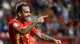 Paco Alcácer está en un buen estado de forma. AFP