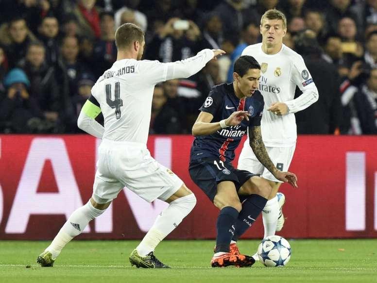 PSG y Real Madrid disputarán la eliminatoria más interesante de octavos de final. AFP