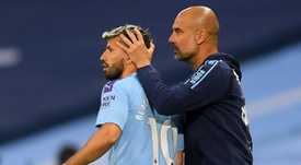 Guardiola banks on Aguero's everlasting quality for goals. AFP