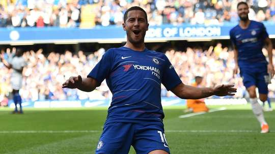 Hazard says he could finish his career with Chelsea. AFP