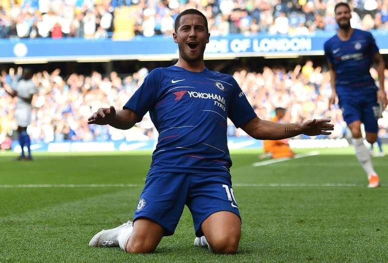 Chelsea forward Eden Hazard. AFP