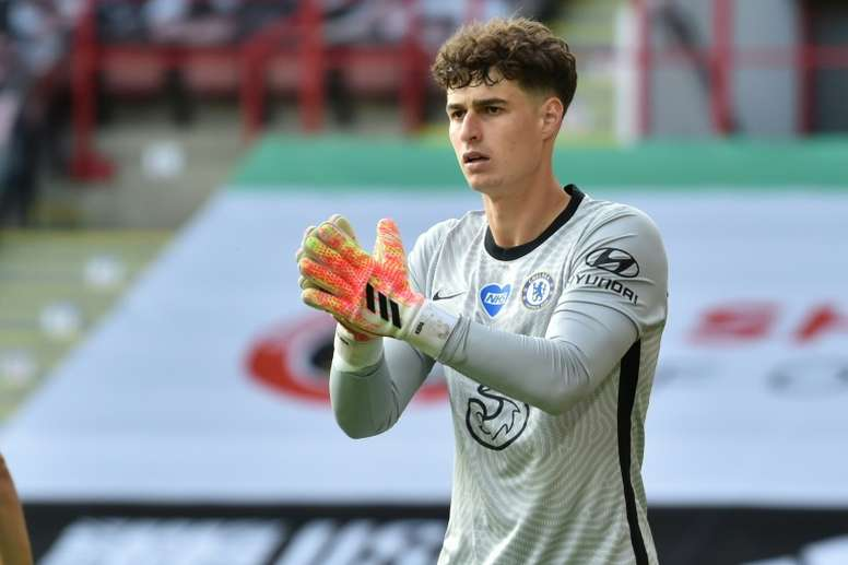 Kepa's Chelsea future is uncertain. AFP