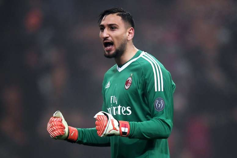 Donnarumma is content with AC Milan. AFP