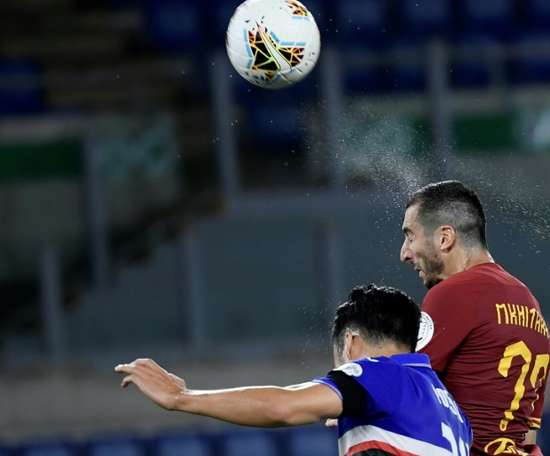 Mkhitaryan will stay at Roma until the end of the season. AFP