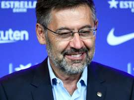 Bartomeu shocked everyone by confirming Barca will join a European Super League. AFP