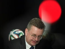 Reinhard Grindel has now resigned from UEFA and FIFA. AFP