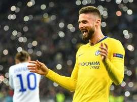Giroud prolonge avec Chelsea. AFP
