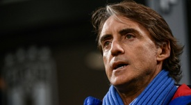 Mancini is happy. AFP