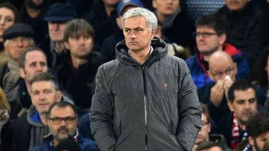 Mourinho and Manchester United will face Chelsea on Saturday. AFP