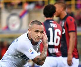 Nainggolan got off the mark on his debut. AFP