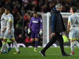 Mourinho, eliminado de la EFL Cup por su alumno más aventajado. AFP