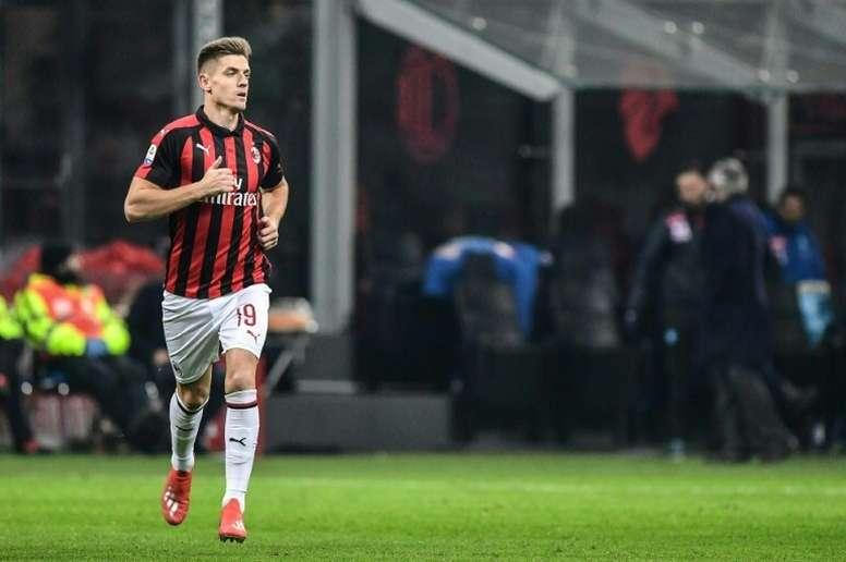 Piatek es ya todo un ídolo en Milan. AFP