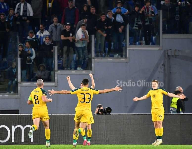 La Lazio, casi eliminada de Europa. AFP
