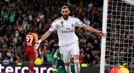 Benzema, plus efficace que Cristiano Ronaldo et Messi. AFP