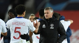 Manchester United are looking for a ninth successive away win in the Premier League. AFP