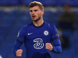 Timo Werner scored two penalties in Chelsea's 3-0 win over Rennes. AFP