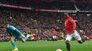 Ighalo não permanecerá no Manchester United. AFP