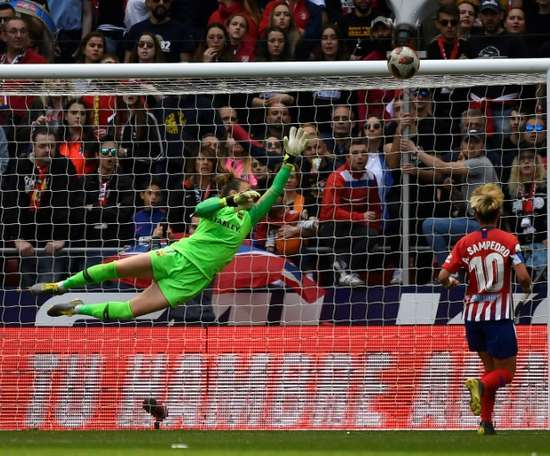 Barca GK Sandro Panos was not in action last weekend due to the players' strike. AFP