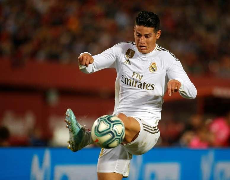 James se desconectou do Real Madrid. AFP