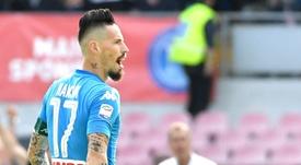 Hamsik is Napoli's record goalscorer. AFP