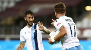 Immobile scored in Lazio's win at Torino. AFP