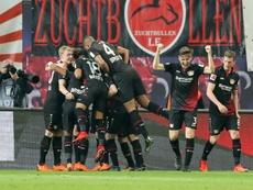 Levrekusen ran riot in the second half. AFP