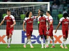 El Arsenal derrotó al Qarabag. AFP