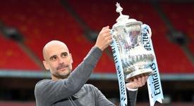 Pep se cuela en el 'Hall of Fame' de Inglaterra. AFP