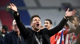 El Atlético quiere renovar el contrato de Simeone. AFP