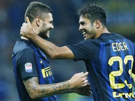 El Inter volvió a jugar con fuego y empató ante el Bologna. AFP