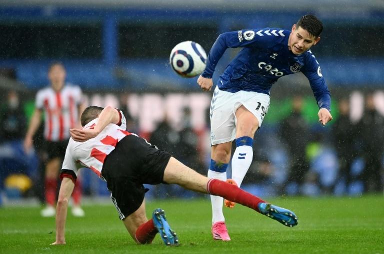 James Rodriguez said goodbye to his Everton teammates
