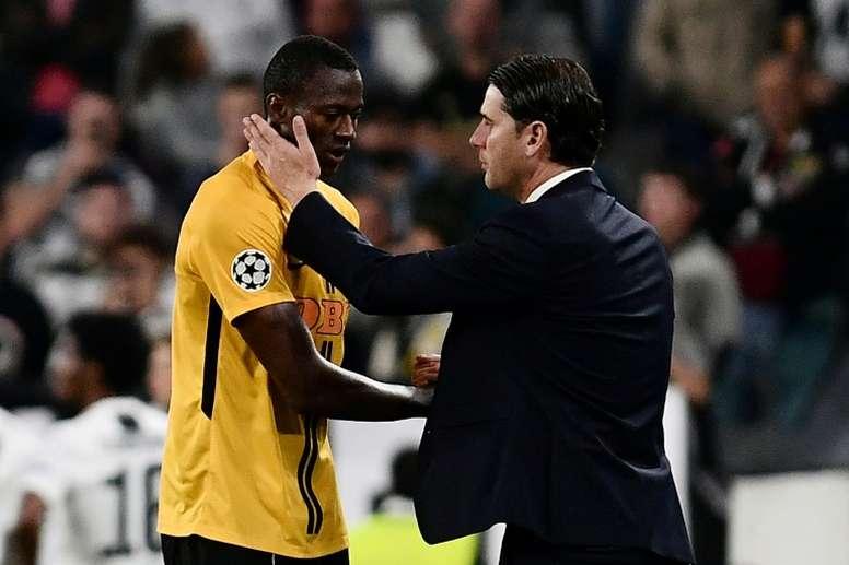 El Young Boys ya piensa en su compromiso de Champions ante el Valencia. AFP