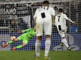 Ronaldo scores Juventus' winner. AFP