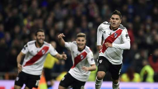 Quintero scored a brilliant goal as River Plate won their fourth Copa Libertadores crown. AFP
