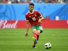 Harit played in the World Cup. AFP