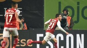 Ricardo Horta scored late winner to give Braga the Taca da Liga. AFP