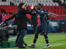 Moise Kean opened the scoring as PSG beat Brest 3-0. AFP