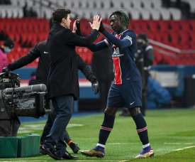Moise Kean opened the scoring as PSG beat Brest 3-0. AFP