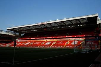 Anfield pasará a albergar más de 61.000 espectadores. AFP