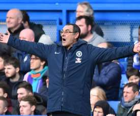 Sarri insulté par le staff de Burnley. AFP