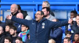 Sarri insulté par le staff de Burnley. AFP
