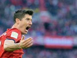 Lewandowski marked double century in style. AFP