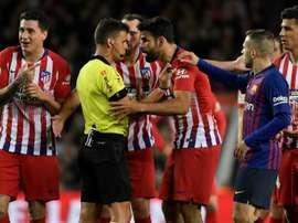 O Atlético recorreu da sanção imposta a Diego Costa. AFP