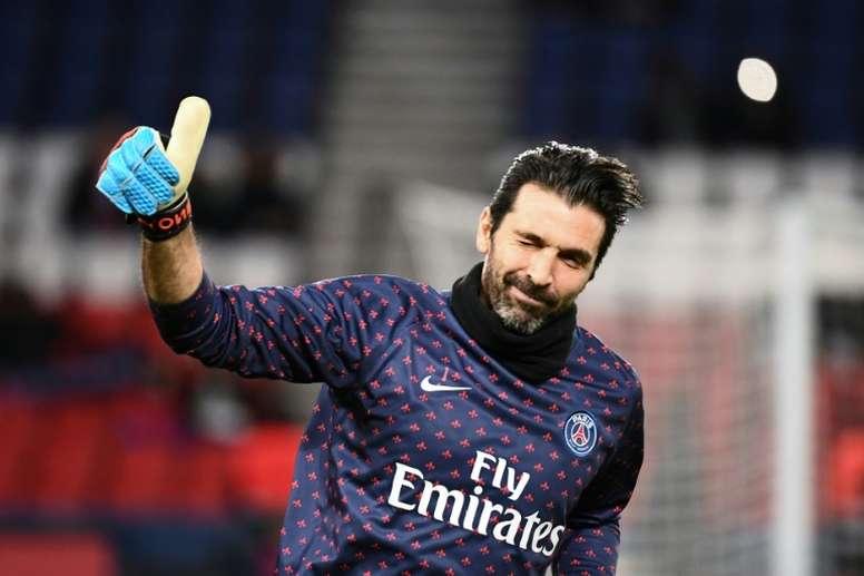A Buffon no le gustó la imagen ofrecida por el equipo. AFP